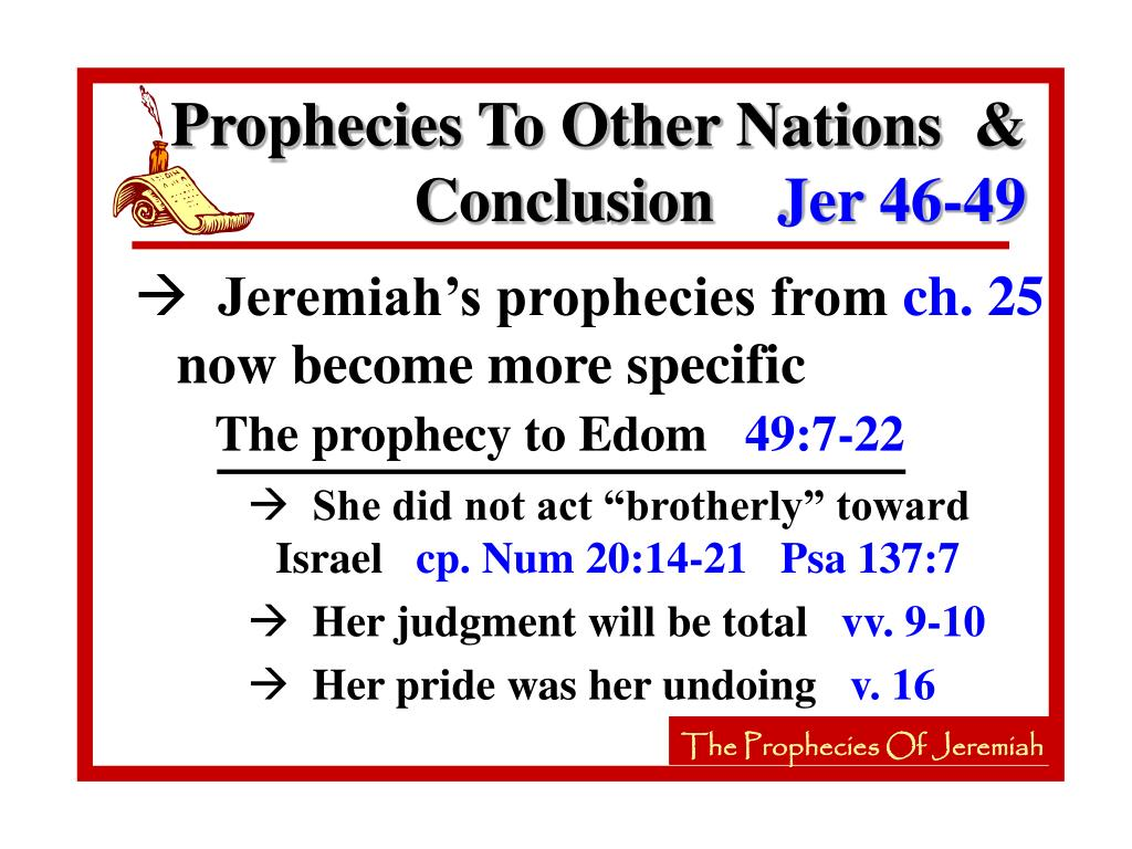 The prophecy to Edom