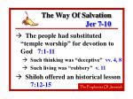 the way of salvation jer 7 10