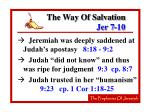 the way of salvation jer 7 1018
