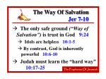 the way of salvation jer 7 1019