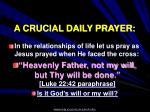 a crucial daily prayer