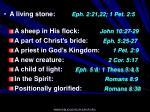 a living stone eph 2 21 22 1 pet 2 5