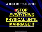 a test of true love