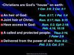 christians are god s house on earth 1 cor 3 9 2 cor 5 1