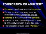 fornication or adultery