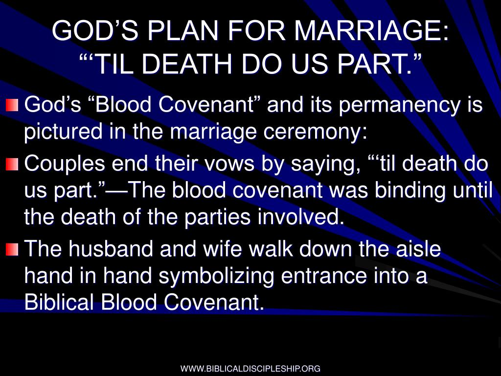 GOD'S PLAN FOR MARRIAGE: