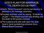 god s plan for marriage til death do us part