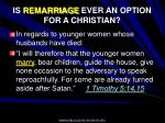 is remarriage ever an option for a christian90