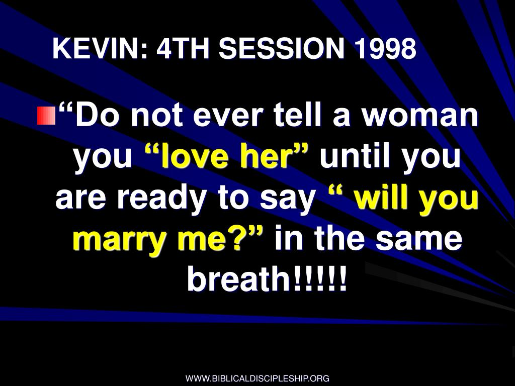 KEVIN: 4TH SESSION 1998
