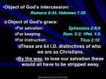 object of god s intercession romans 8 34 hebrews 7 25