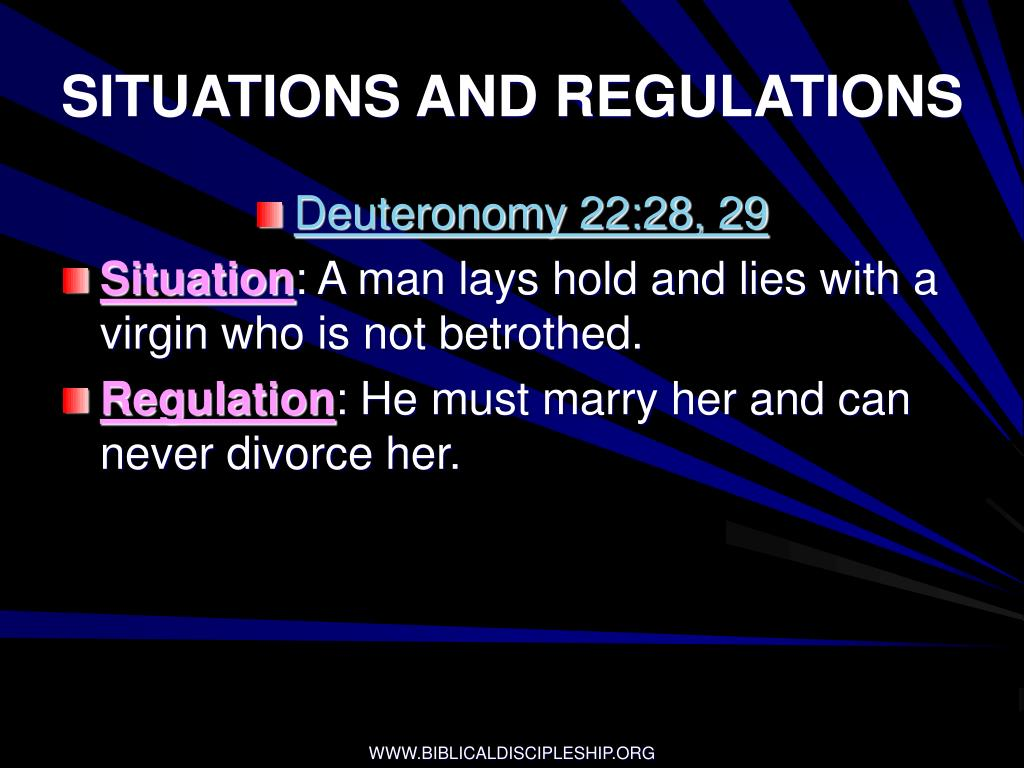 SITUATIONS AND REGULATIONS