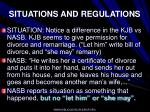 situations and regulations76