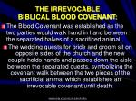 the irrevocable biblical blood covenant