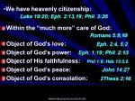 we have heavenly citizenship luke 10 20 eph 2 13 19 phil 3 20
