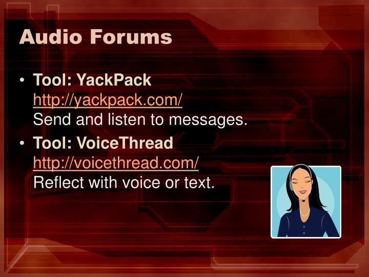 Audio Forums