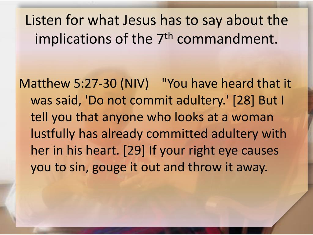 Listen for what Jesus has to say about the implications of the 7
