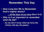 remember this day21