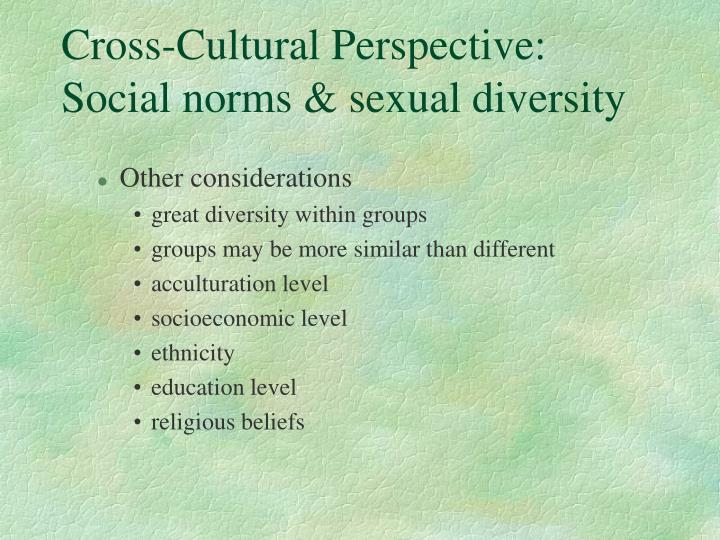 Cross-Cultural Perspective: