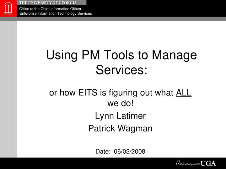 Using pm tools to manage services