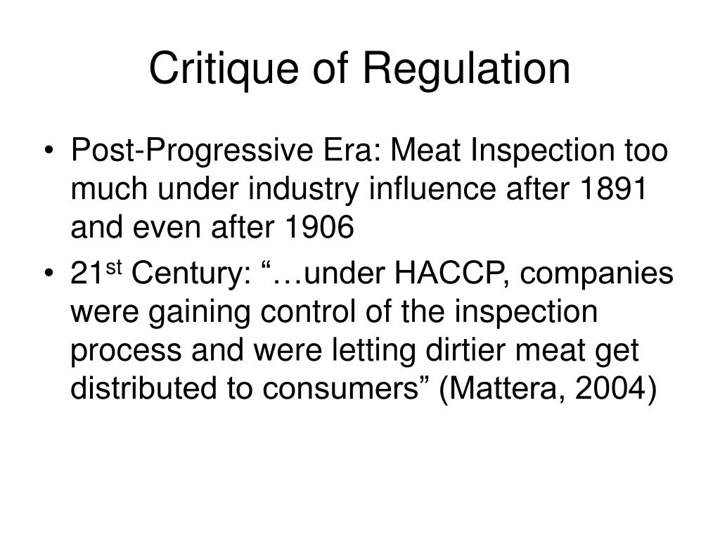 Critique of Regulation