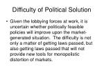 difficulty of political solution