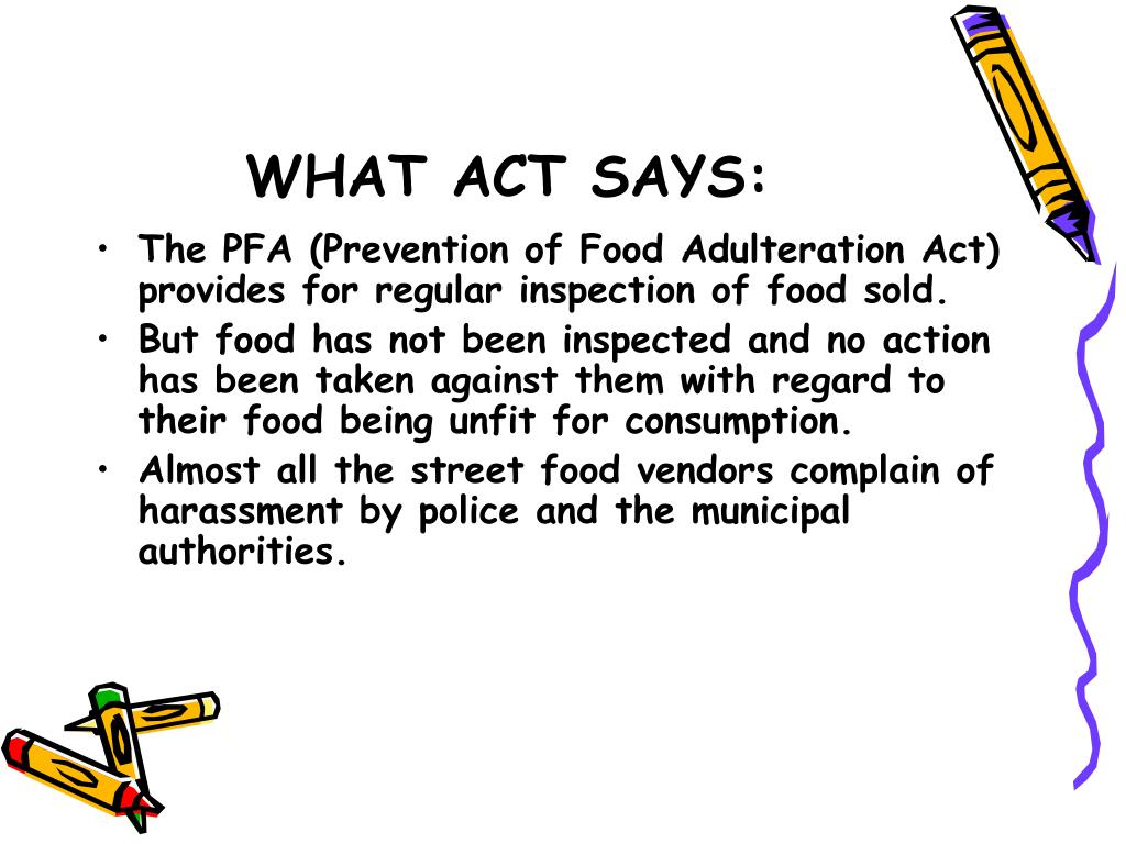 WHAT ACT SAYS: