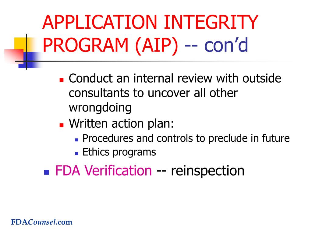 APPLICATION INTEGRITY PROGRAM (AIP)