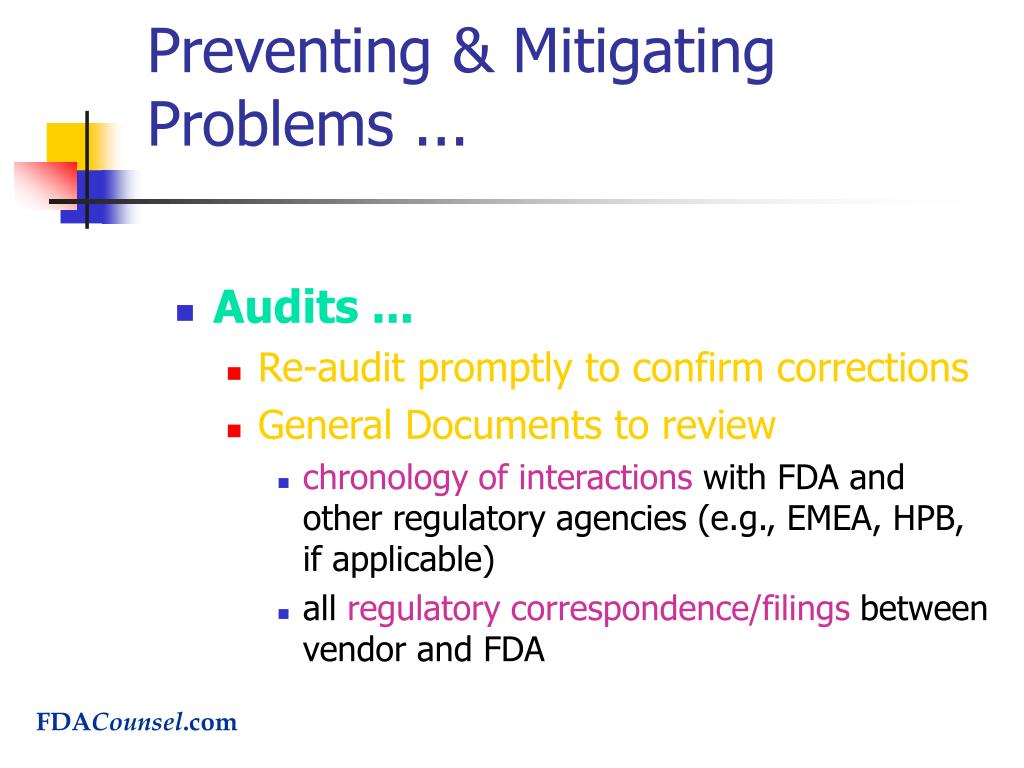 Preventing & Mitigating Problems ...