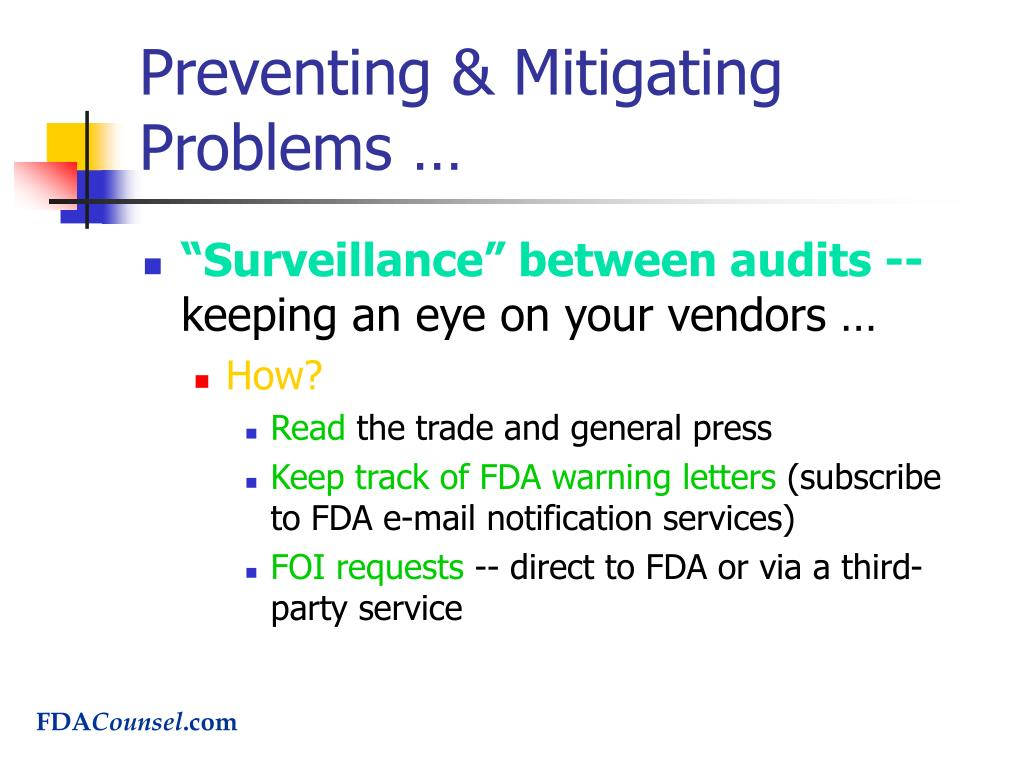 Preventing & Mitigating Problems …