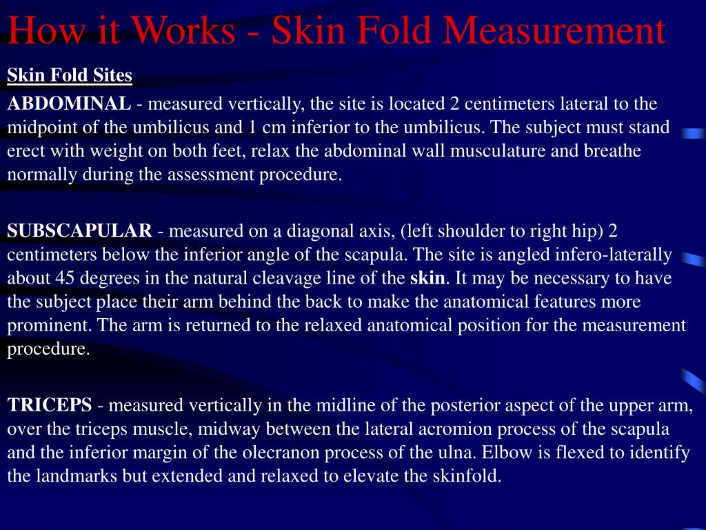 How it Works - Skin Fold Measurement