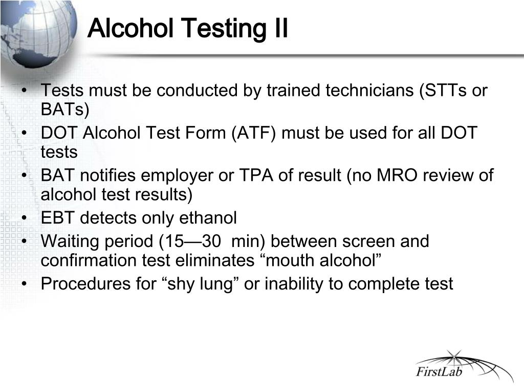 Alcohol Testing II