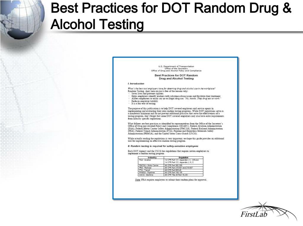 Best Practices for DOT Random Drug & Alcohol Testing