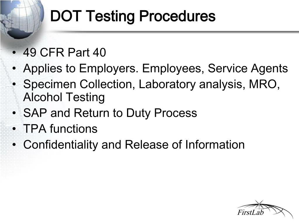 DOT Testing Procedures