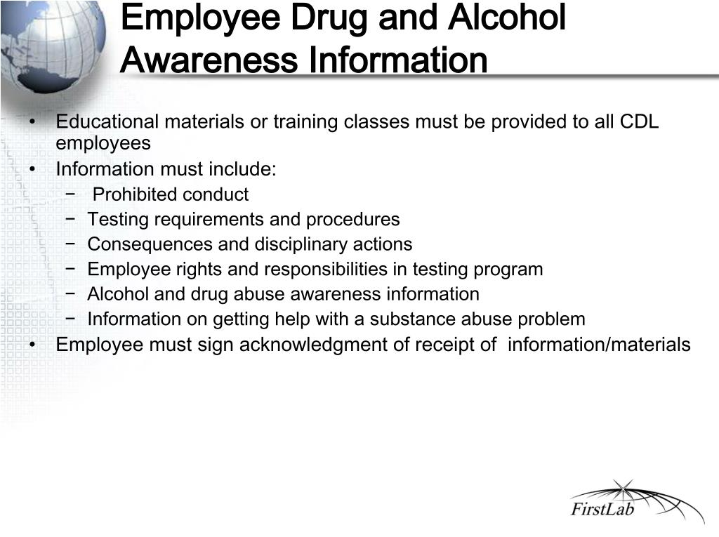 Employee Drug and Alcohol Awareness Information