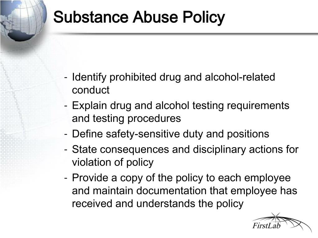 Substance Abuse Policy