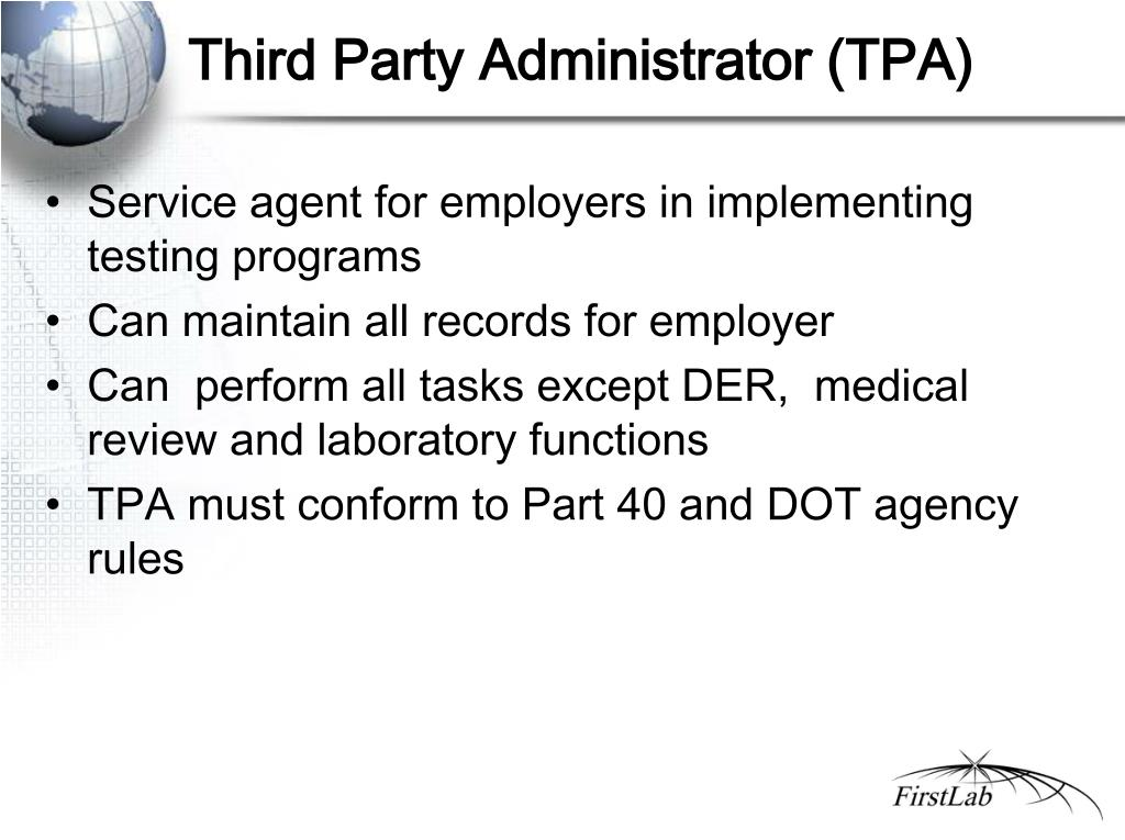 Third Party Administrator (TPA)