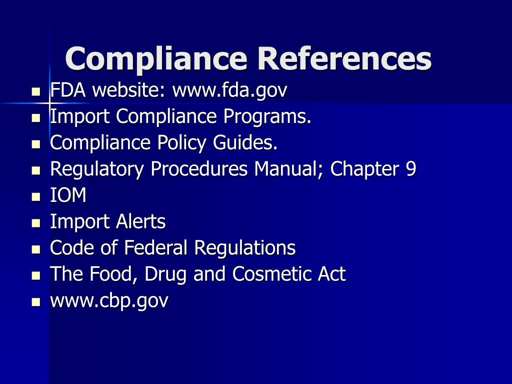 Compliance References