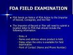 fda field examination