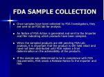 fda sample collection