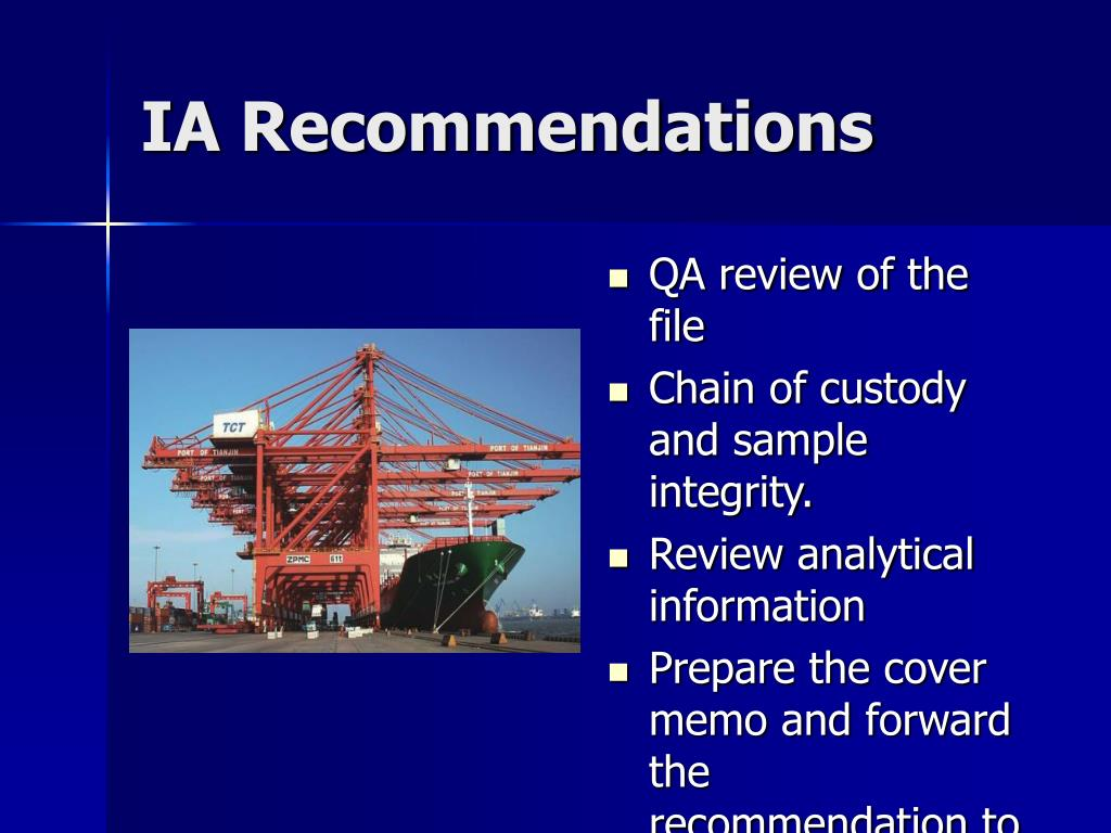 IA Recommendations