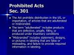 prohibited acts sec 301