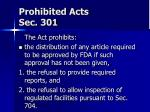 prohibited acts sec 30118