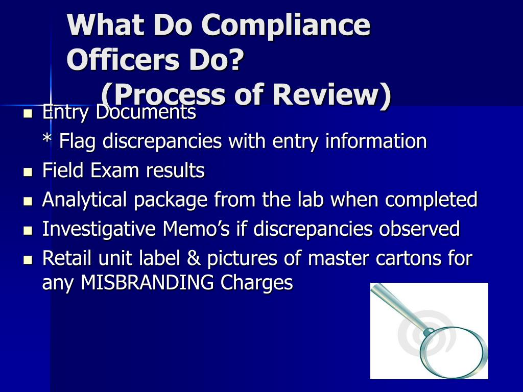 What Do Compliance Officers Do?