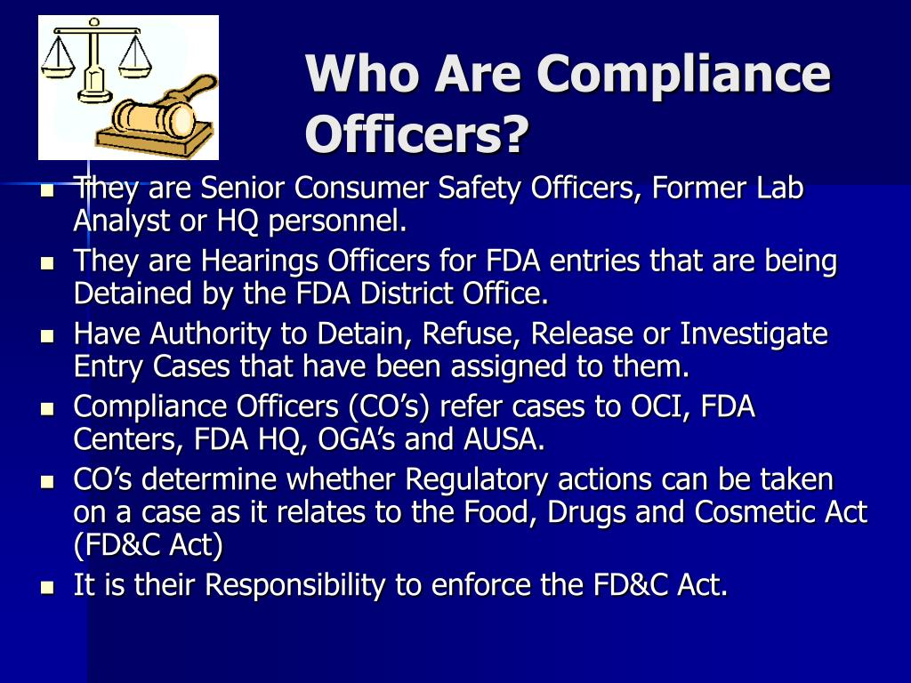 Who Are Compliance Officers?