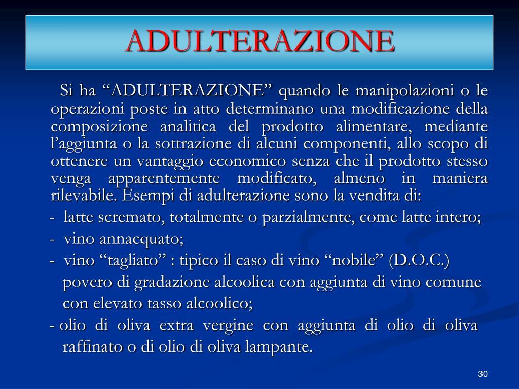 ADULTERAZIONE