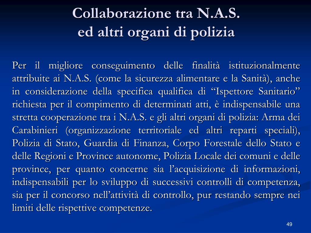 Collaborazione tra N.A.S.