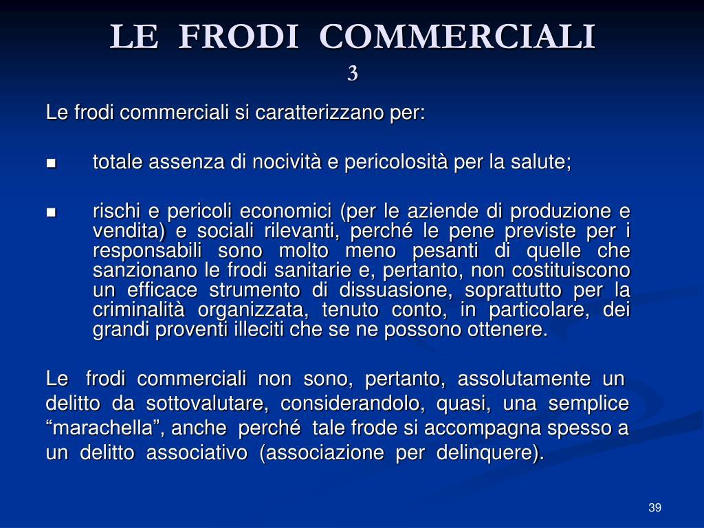 LE  FRODI  COMMERCIALI