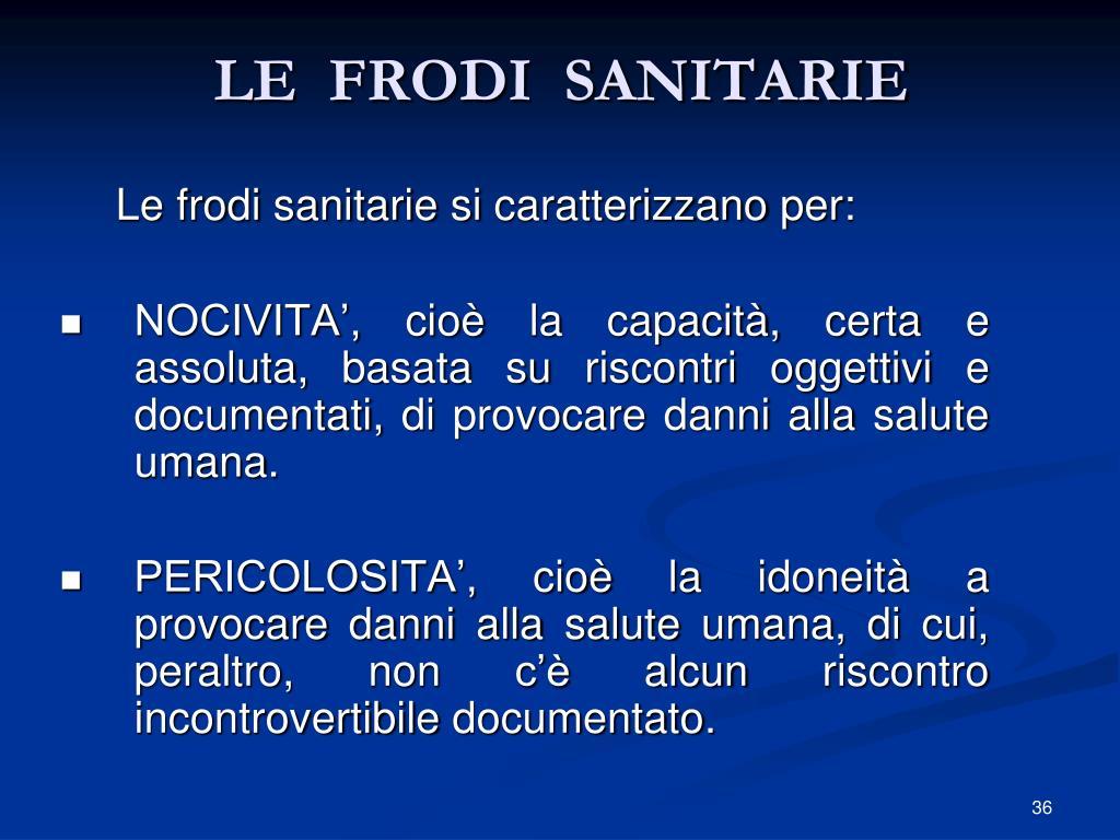 LE  FRODI  SANITARIE