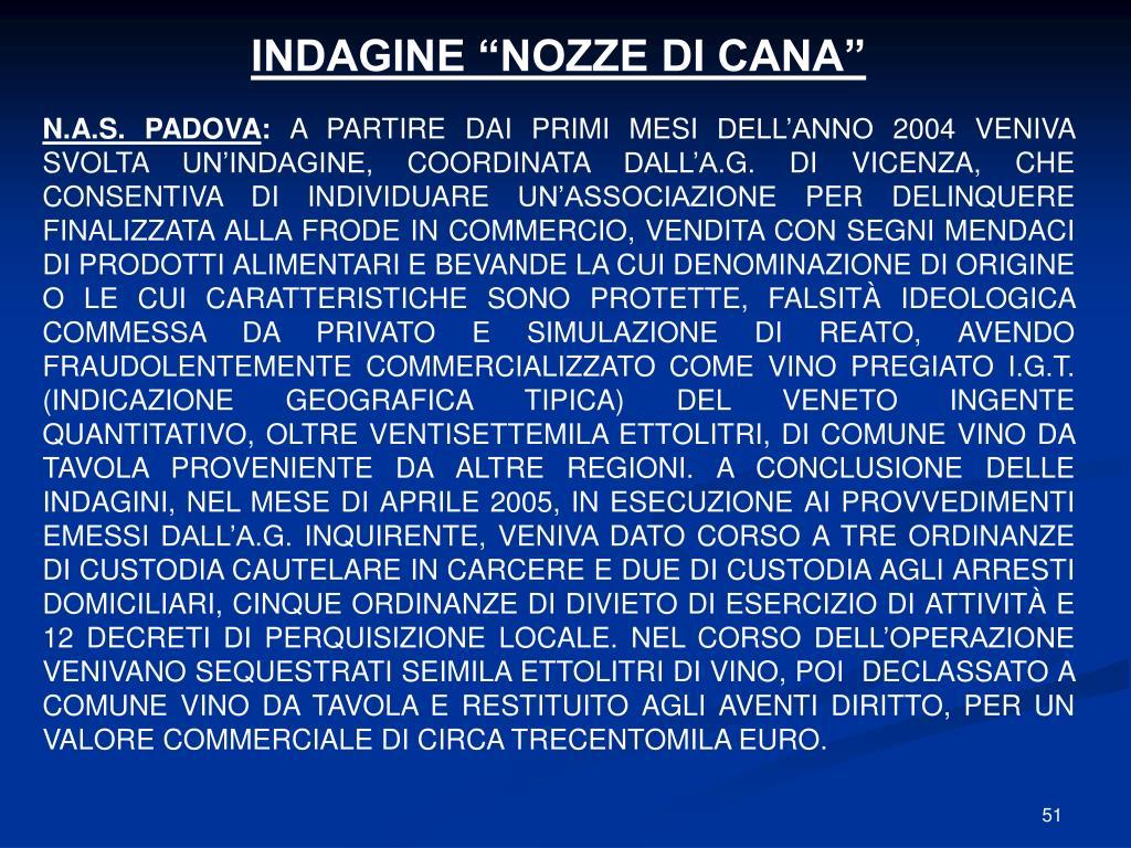 """INDAGINE """"NOZZE DI CANA"""""""