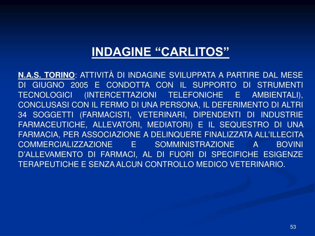 """INDAGINE """"CARLITOS"""""""